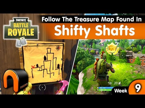 FORTNITE Follow The Treasure Map Found In SHIFTY SHAFTS, Week 9 Challenge