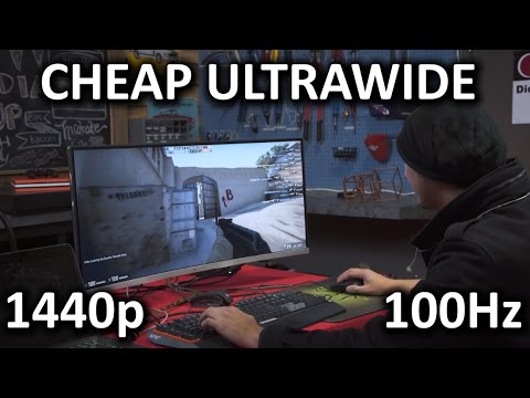 Cheap Korean Curved Ultrawide 100Hz Gaming Monitor