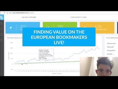 Finding value on the European bookmakers LIVE || TradingEuro