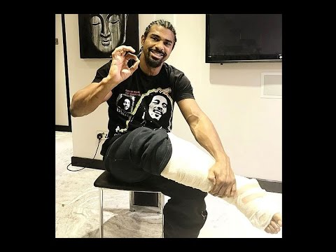 (GRAPHIC) GRUESOME IMAGE OF DAVID HAYE'S TORN ACHILLES HE FOUGHT 5 ROUNDS ON; EXPECTS FULL RECOVERY