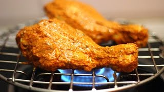 Tandoori Chicken in Gas Stove | Tandoori Chicken Using Gas Stove Flame |  Without OVEN /Tandoor