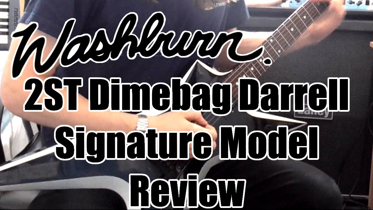 washburn 2st dimebag darrell signature model review demo youtube. Black Bedroom Furniture Sets. Home Design Ideas