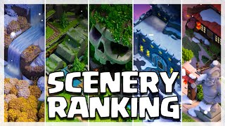 Which Home Village SCENERY Is The BEST? | Clash of Clans screenshot 2