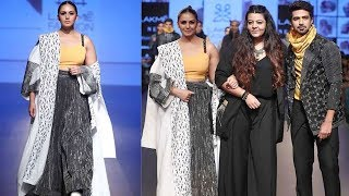 Huma Qureshi And Saqib Saleem Walks The Ramp For Two Point Two At Lakme Fashion Week W/F 2018