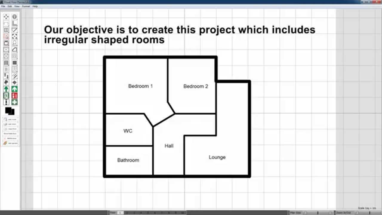 Visual Floor Planner Tutorial Irregular Rooms YouTube