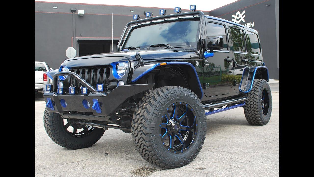2013 Avorza Jeep Wrangler Blue Amp Black Edition Done For