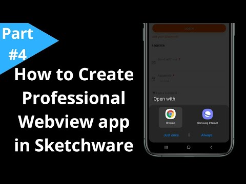Professional Android App in Sketchware  How to Create Professional Webview app in Sketchware  Part 4