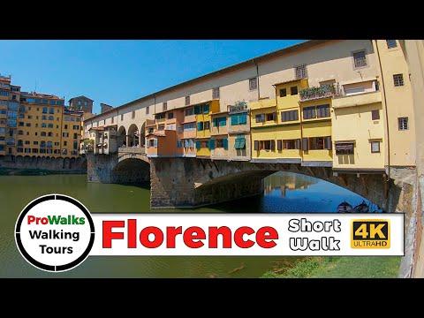 Florence, Italy Short Walking Tour (4K/60fps)