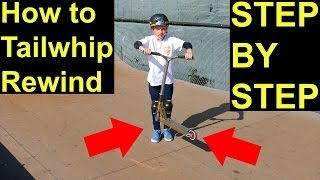 How to Tailwhip Rewind on a Scooter! EASY & SIMPLE✅‼️