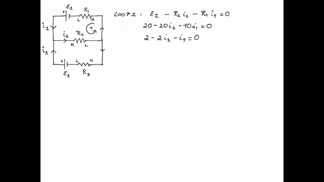 Calculating Current In A Multi Loop Circuit Example 1 Youtube Fig 8 Diagram Of Electric Shown 7