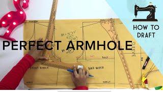 Drafting Perfect Armhole   Armhole Sloper