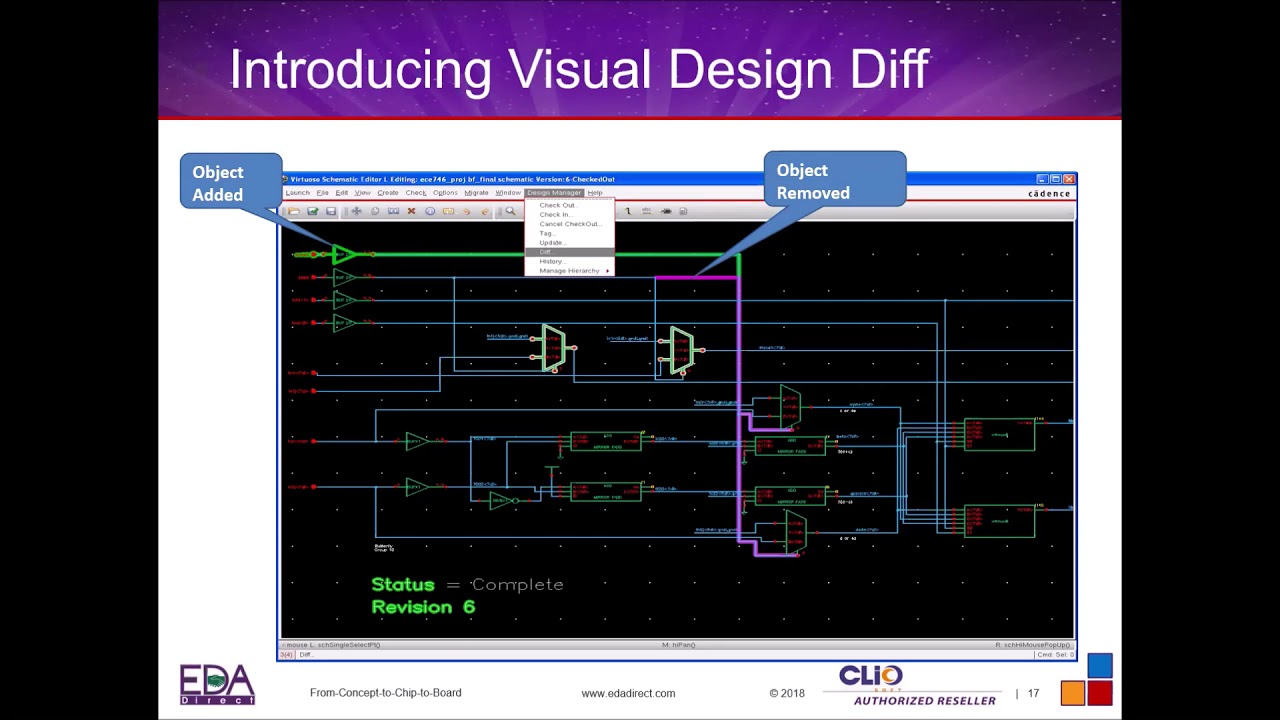 Visual Design Diff For Cadence Virtuoso Users