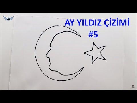 Ay Yildiz Cizimi 5 29 Ekim Cizimleri Nasil Yapilir Youtube