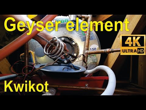 How to change a geyser element and thermostat - step by step explanation (Kwikot)