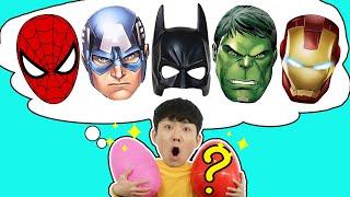 구르기만 하면 재밌는게 나와요!! Pretend Play with Superheroes Surprise Egg Toy for Kids! - 마슈토이 Mashu ToysReview
