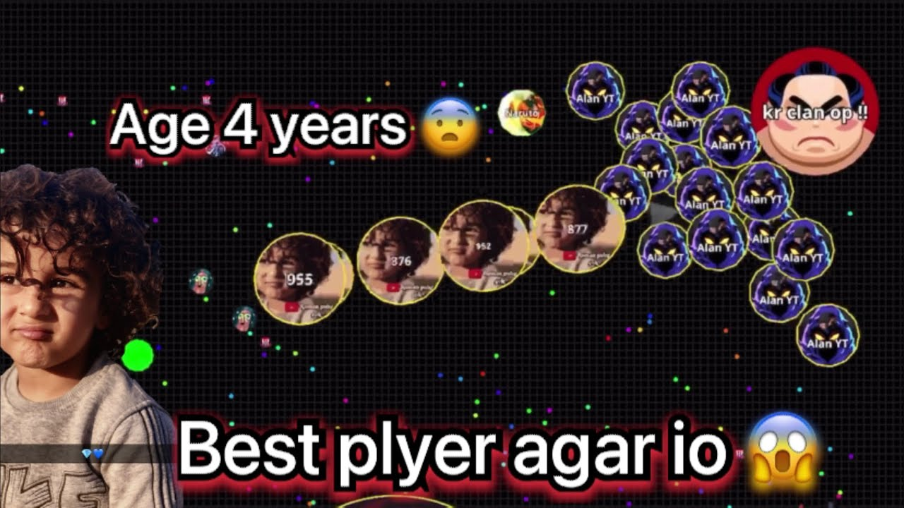 Agario best kid plyer 😱 canoon