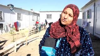 وكالة قاسيون  جولة ترصد معاناة المواطنين المقيمين في الكرفانات بمنطقة بيت حانون بغزة 6-12-2015