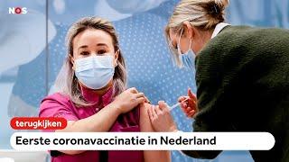 TERUGKIJKEN: Eerste coronavaccinatie in Nederland