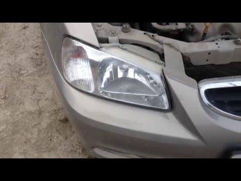 Замена лампы ближнего света на Hyundai Accent
