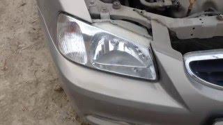 Заміна лампи ближнього світла на Hyundai Accent