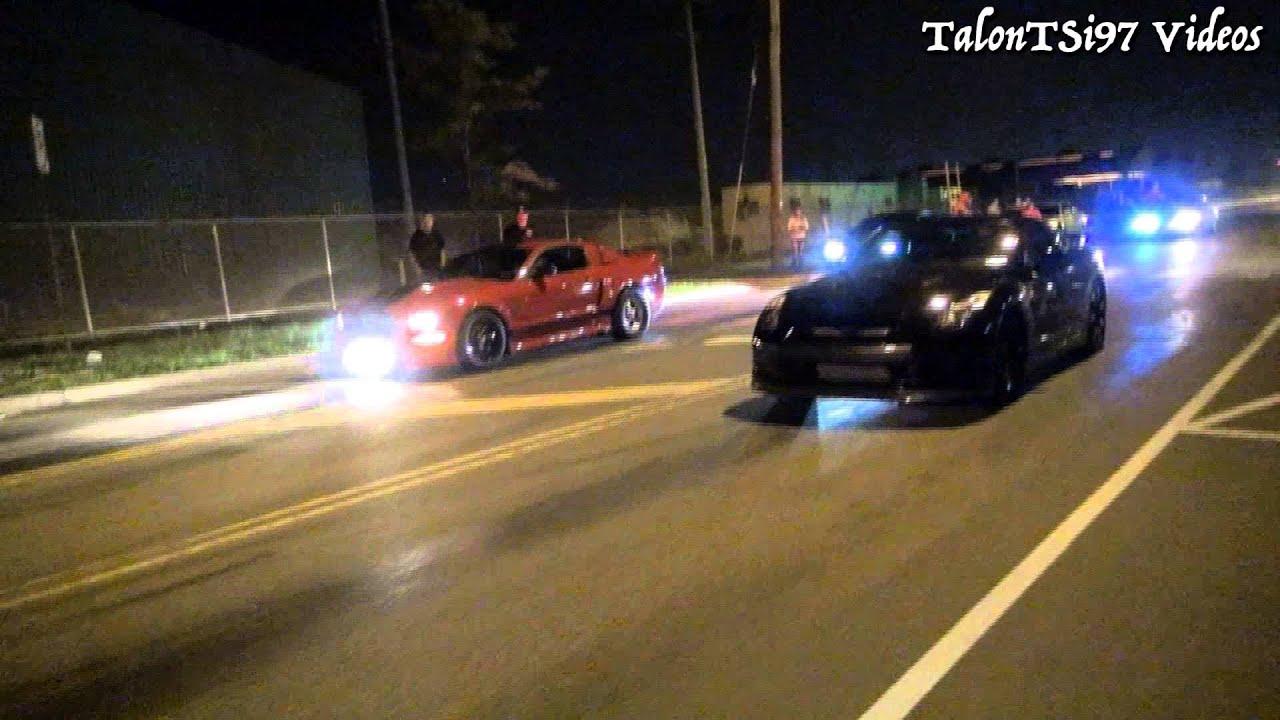 Street Race Fail! GTR vs Mustang - YouTube