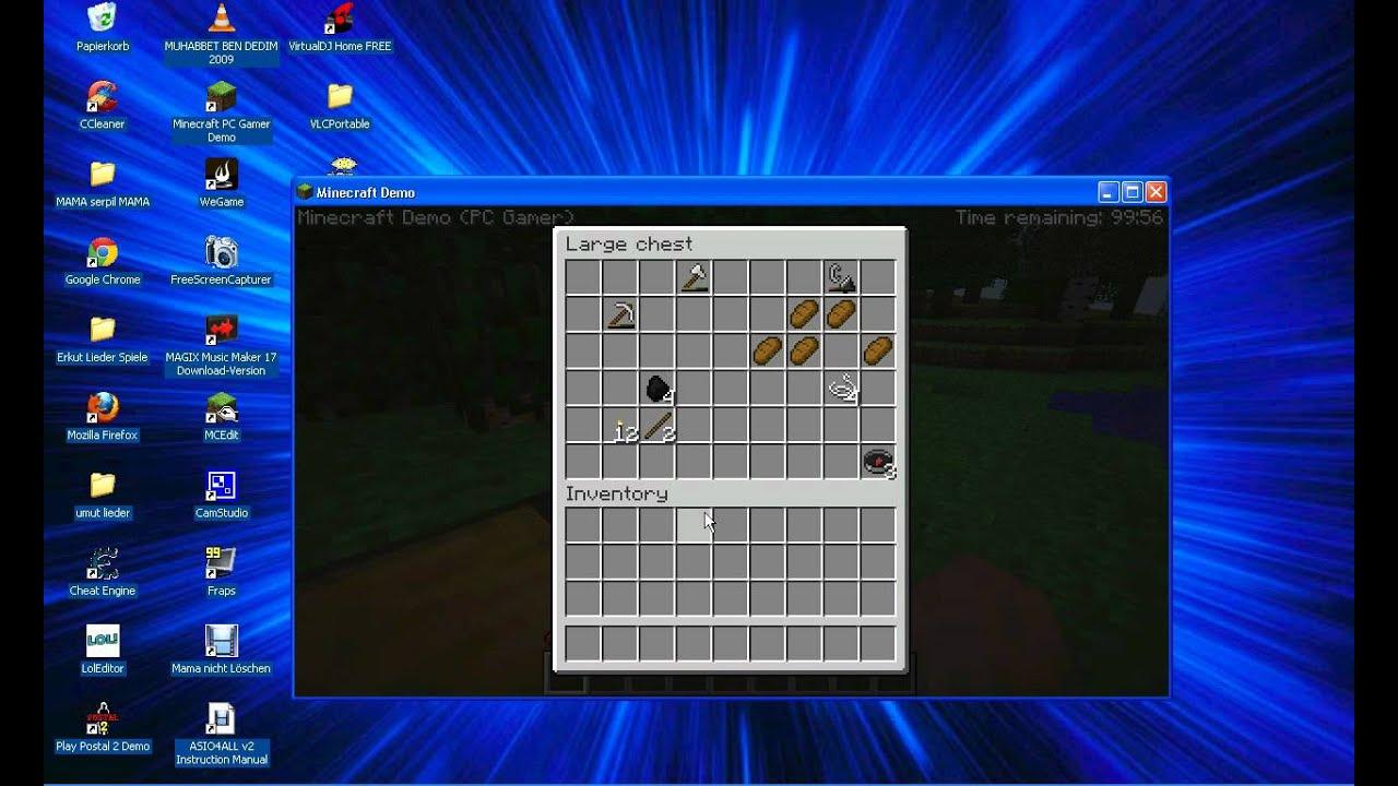 Minecraft Demo Version Zeit Hack YouTube - Minecraft demo spielen pc