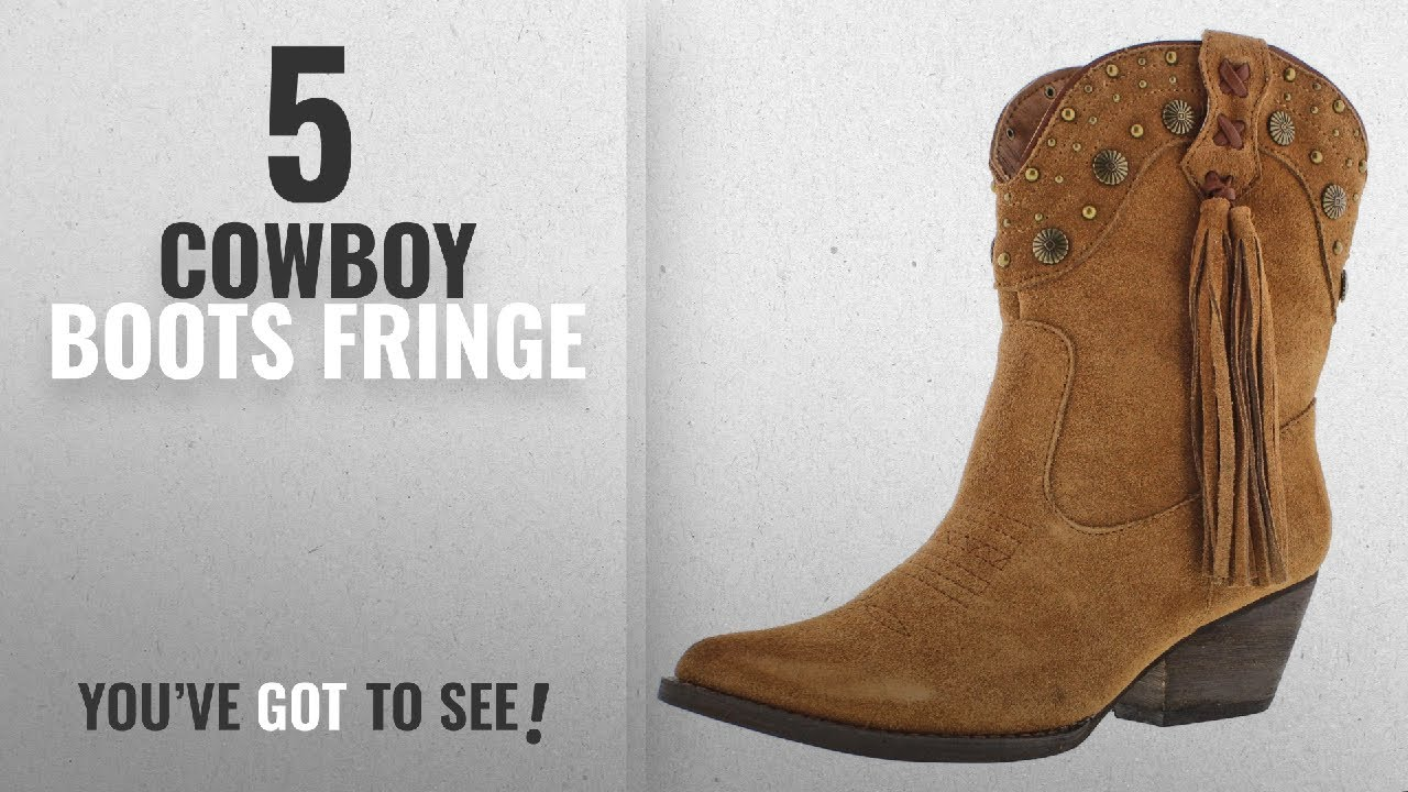 e51193baa94 Top 5 Cowboy Boots Fringe [2018]: Very Volatile Women's Waddy Ankle Boot  Tan 8.5 M US