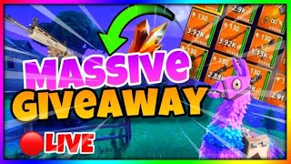 FORTNITE SAVE THE WORLD LIVE GIVEAWAY (STREAM HAS BEEN ENDED)