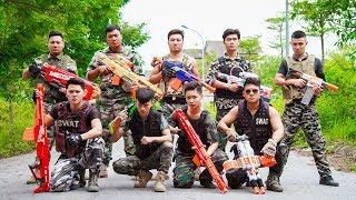 LTT Nerf War : SEAL X Warriors Nerf Guns Fight Criminal Group Hunt Alone