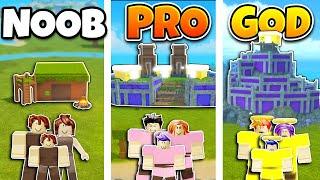 Roblox NOOB vs PRO vs GOD FAMILY BASE BUILD in BOOGA BOOGA