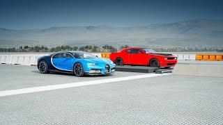 2018 Bugatti CHIRON vs 2018 Dodge DEMON Drag Race! Forza 7