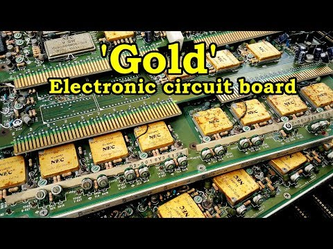 recycle gold at home from electronic circuit board. earn extra income recover gold extraction