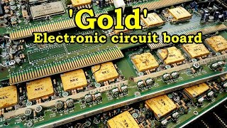 Gold recycle at home from electronic circuit board scrap How To gold recover.