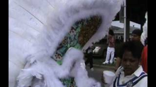 Mardi Gras Indians 2011 New Orleans Second Line & Riverwalk Fireworks Cavalier