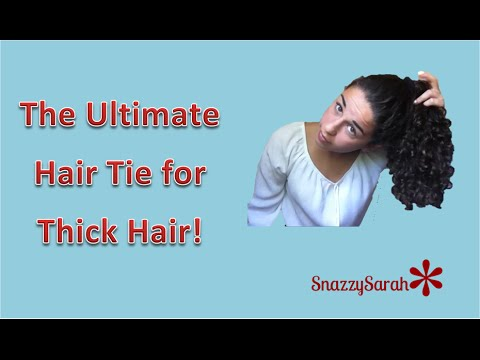 BEST Hair Tie for Thick or Curly Hair! - YouTube a6147045252