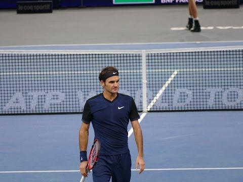 Roger Federer vs John Isner - Court Level View Highlights HD