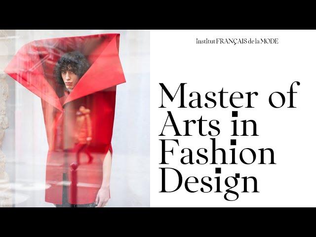 Master Of Arts In Fashion Design Open Days 2020 Institut Francais De La Mode Youtube