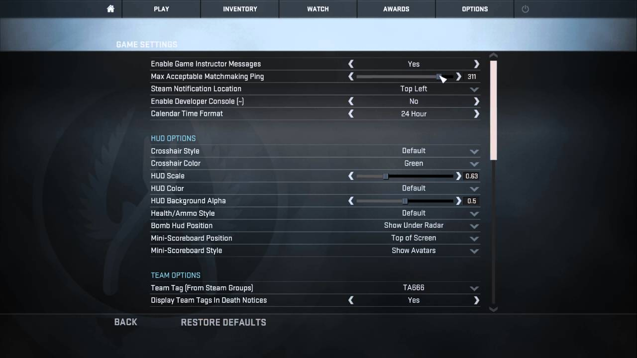 Cs Go Max Acceptable Matchmaking Ping Console Command