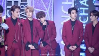 [fancam]170222 Gaon Chart Awards Sexy 올해의 가수상(앨범)에 빛나는 GOT7 마크(MARK) FOCUS