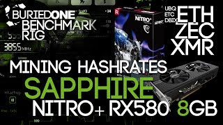 Sapphire Nitro+ RX580 8GB Crypto Mining Benchmarks: ETH/UBQ/ZEC/XMR