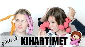 TESTISSÄ Glitter kihartimet   hair macarons