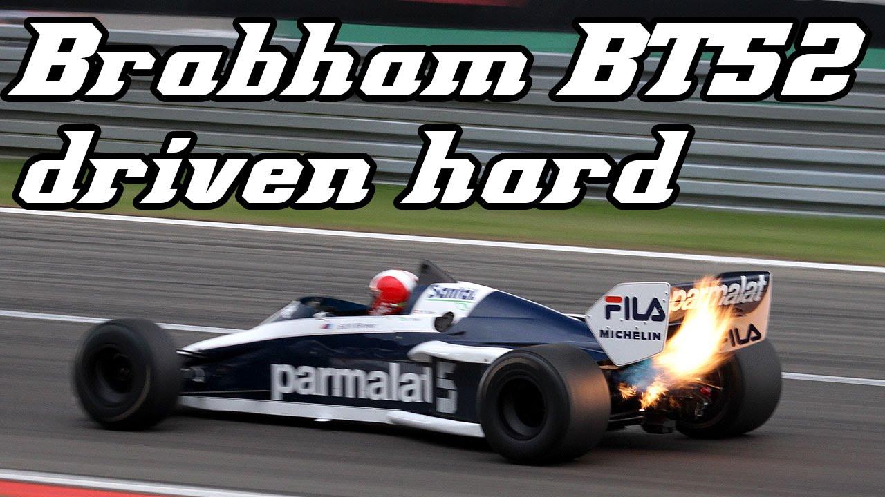 1983 Brabham BT52 driven hard shooting huge flames (2013 nürburgring ...