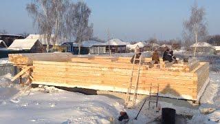 Строительство дома из бруса 200х200. Укладка бруса на мох и типы соединений.(, 2016-01-30T14:09:04.000Z)