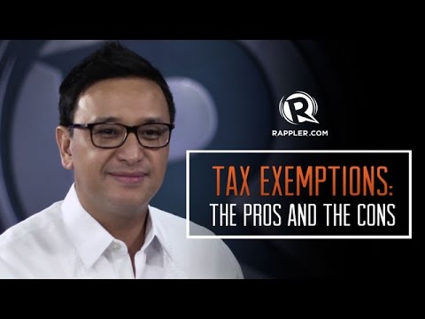 Tax exemptions: The pros and cons