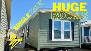 New single wide with MASSIVE bedrooms!! Very uncommon layout on this mobile home! Home Tour