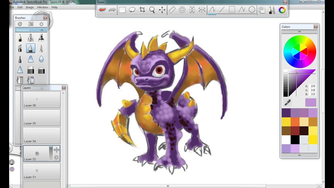 Spyro drawing