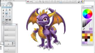 Skylander speed painting - How to draw Spyro