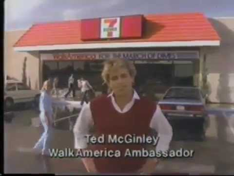 Ted McGinley 1985 7 Eleven March Of Dimes Commercial