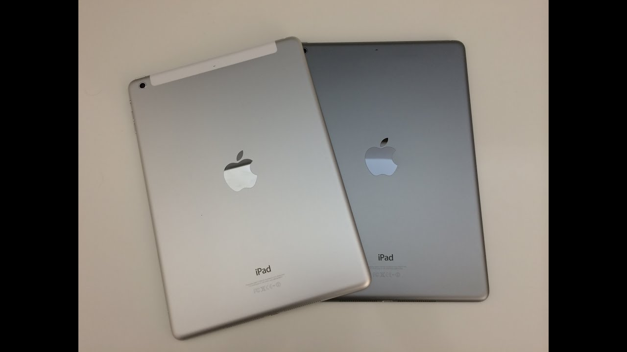 Apple iPad Air Unboxing - Space Grey & White Silver - YouTube
