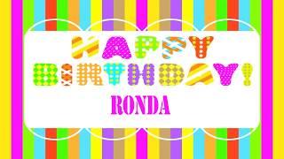 Ronda   Wishes & Mensajes - Happy Birthday